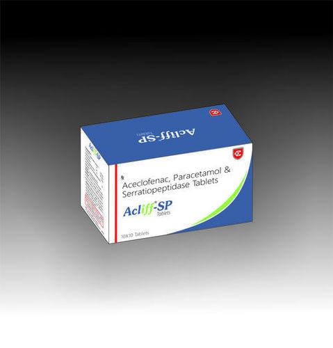 Acliff SP Aceclofenac Paracetamol Serratiopeptidase Tablets
