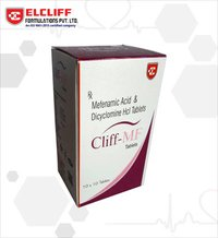 Cliff Mf Mefenamic Acid & Dicyclomine HCL Tablets