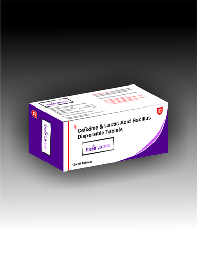 Cefixime Lactic Acid Bacillus Dispersible Tablets