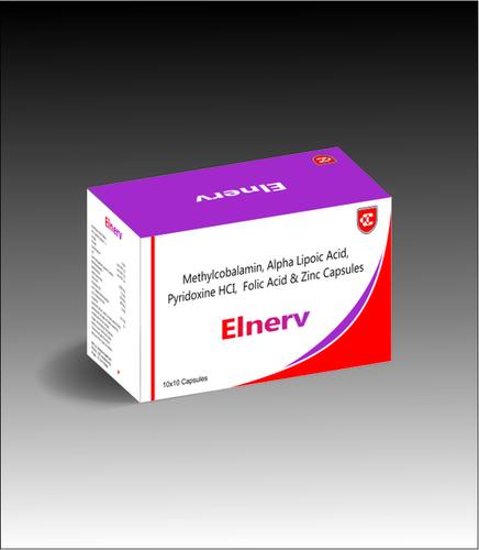 Elnerv Methylcobalamin Alpha Lipoic Acid Pyridoxine Hydrochloride & Folic Acid & Zinc Capsules