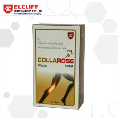 Collarose Collagen Peptide Glucosamine & Methylcobalamin Gluconate Sachets