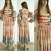 Ladies Tie and Dye Effect Long Gown