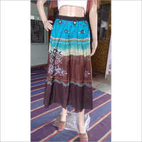 Ladies Printed Cotton Skirt