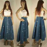 Ladies Double Pleated Skirt