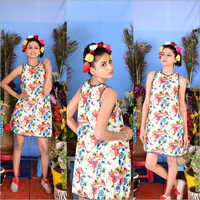Ladies Floral A Line Dress