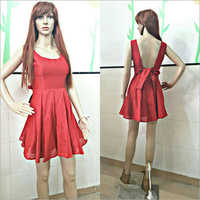Ladies Red Wine Dress