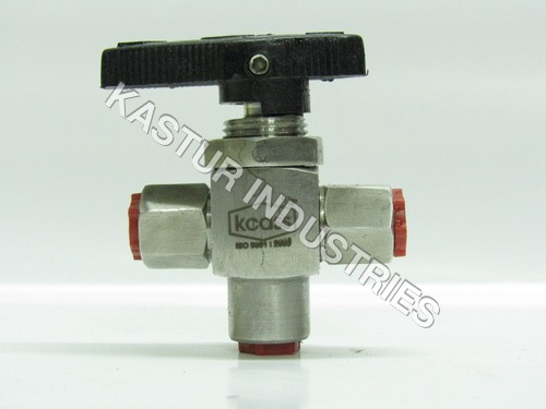 PANEL MOUNTING 3 WAY STAINLESS STEEL BALL VALVE