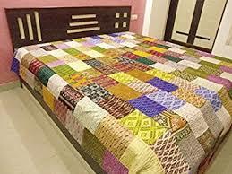 Kantha Patola Bed Cover