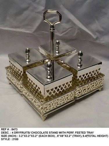 Silver Plated Dry Fruit Box