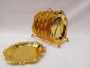 Silver and Gold Plated Tea Coasters