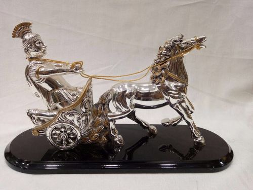 Silver And Gold Plated Statue