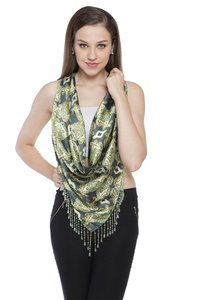 Multi colour printed triangle Scarves