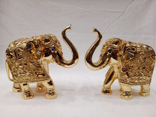 Gold And Silver Plated Elephant Statue