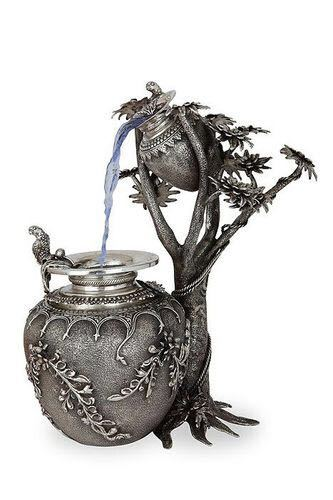 Silver Plated Antique Waterfall