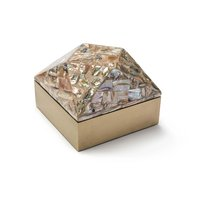 Mother of pearl box with safety lock