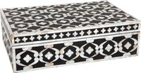 Floral design mother of pearl storage box