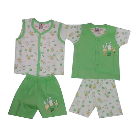 Baby Double Top Double Pant (Front Open Set)