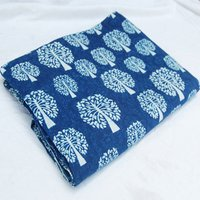 INDIGO BLUE HAND BLOCK PRINTED COTTON FABRIC