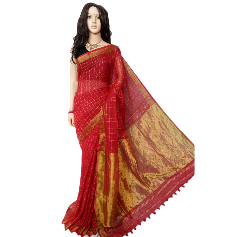 Ladies Handloom Cotton Sarees