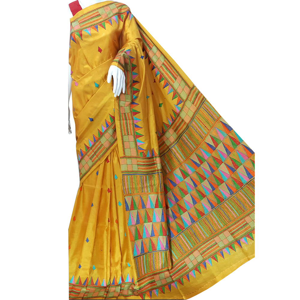 Ladies Kantha Stitched Saree