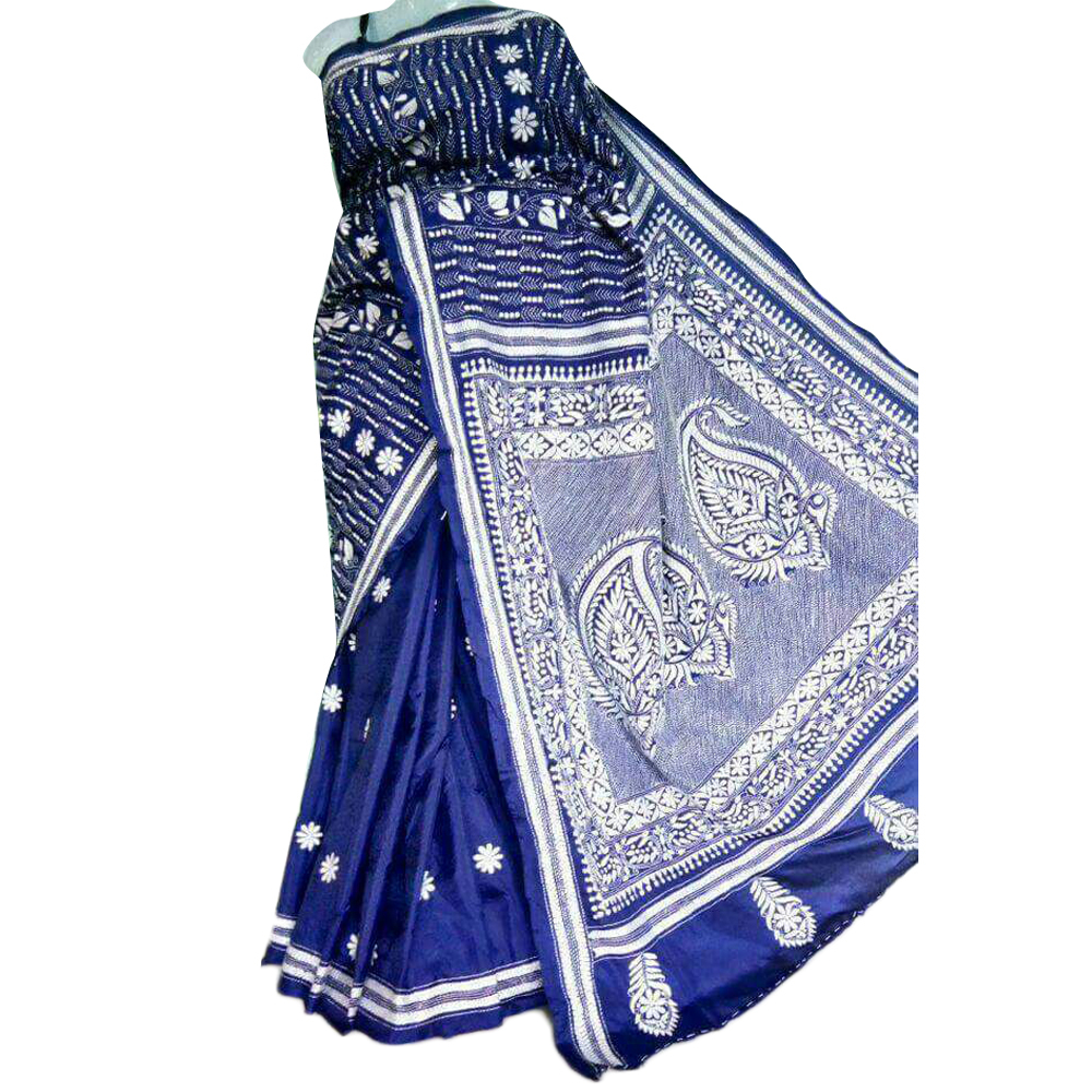 Ladies Coton Kantha Stitched Saree