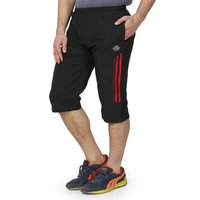 Mens Capri Black & Red