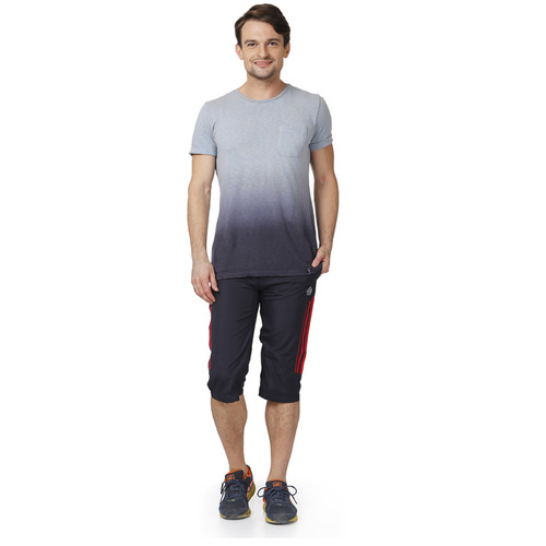 Mens capri (nevy & red)