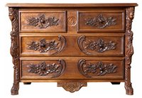 Hand carved furniture chest of drawers cabinet