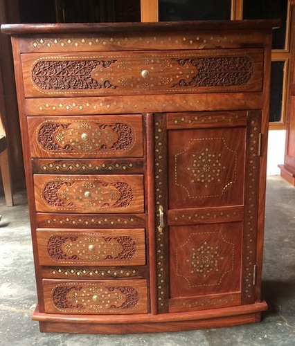 Hand carved furniture chests of drawers with 1 door