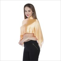 100% Satin Beaded fringes Ruhana  Top / Coverup