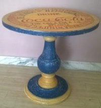 Fancy Wooden Round Table