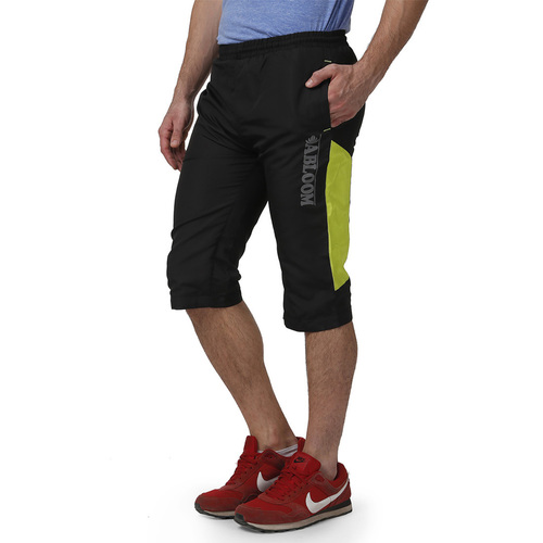 Mens Capri Black & Green