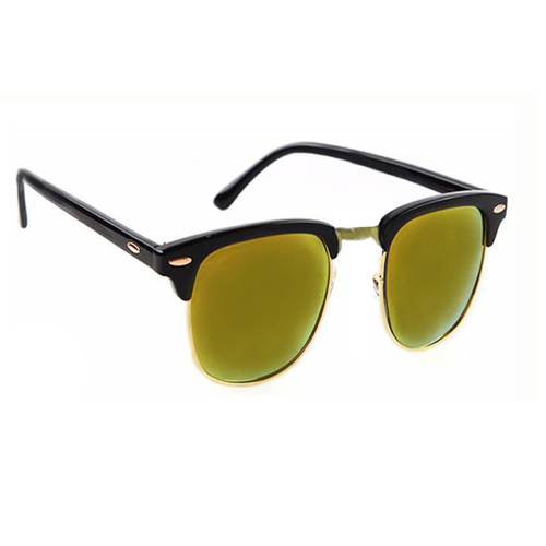 Mens yellow & black clubmaster sunglass