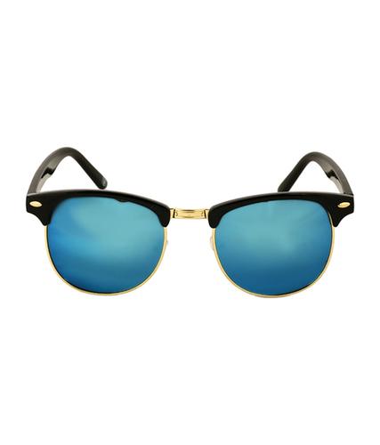 Mens black & blue clubmaster sunglass