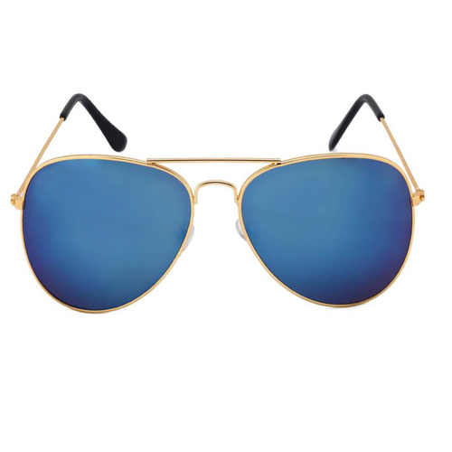mens blue and gold sunglasses
