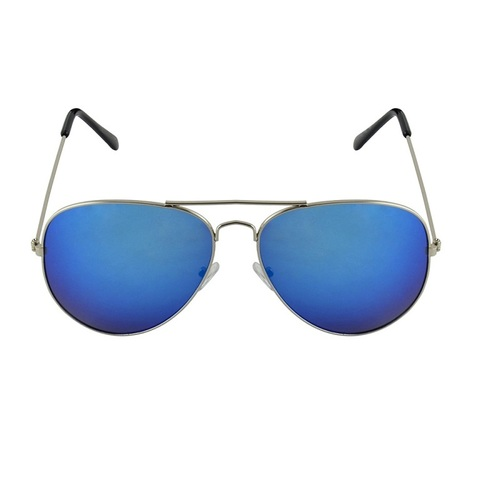 mens blue and silver sunglass