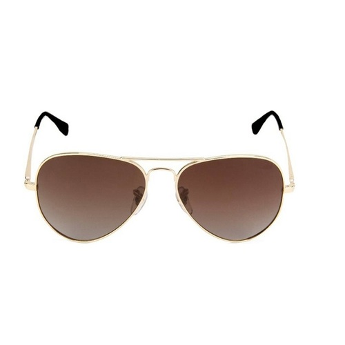Mens brown and gold sunglasses
