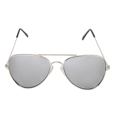Mens silver Avaitor sunglasses
