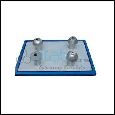 Four Metal Model Rivets Set