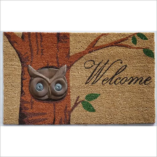 Imprint Owl Door Mat