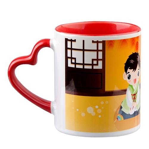 Sublimation Heart Handle Mug