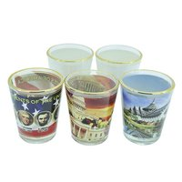 Sublimation Shot Glass - Gold Rim