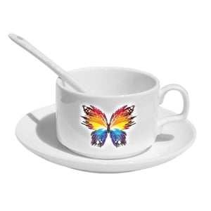 Sublimation Cup & Saucer with Spoon (6pc Set)