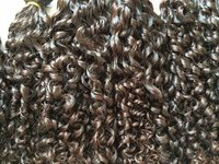 Weft Curly Non Remy Human Hair