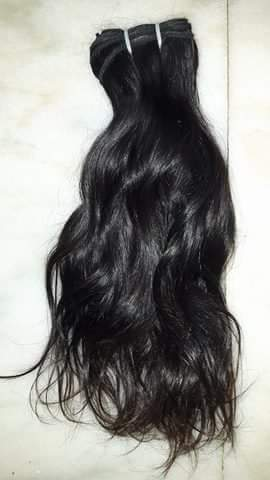 Weft Wavy Non Remy Human Hair