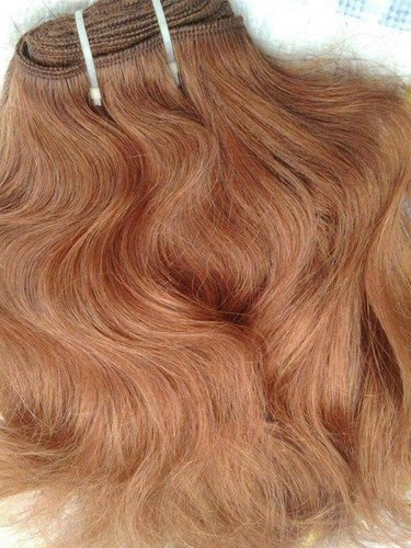 NON REMY COLORED HUMAN HAIR