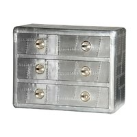 Aviation   chest of drawer with solid Wood Frame