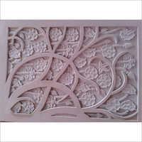 3D White Floral Texture Carving