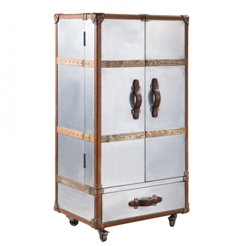 Aviation Bed With Leather Headboard Storage