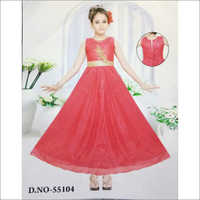 Red Baby Long Frock